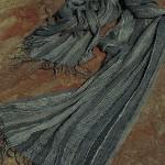 Silk Stole-Ink.60x186cm