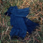 Silk Stole-Indigo