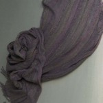 Silk Stole.Indigo 60x186cm